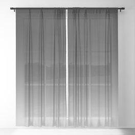 Black to White Sheer Curtain