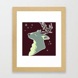Mint Chip Deer Framed Art Print