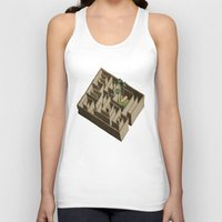 labyrinth Tank Tops featuring labyrinth by Miriam Bauer