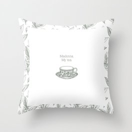 The Spilling of the Tea -V.1- Throw Pillow