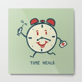 Time heals Metal Print
