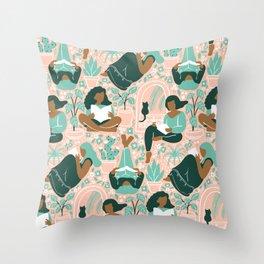 Women Readers - Pattern Throw Pillow