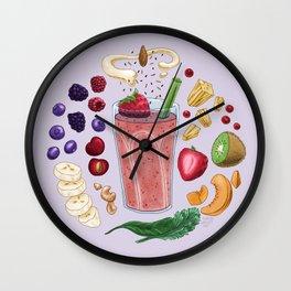 Smoothie Diagram Wall Clock