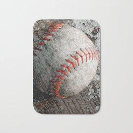 Baseball art Bath Mat