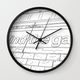 A day in Lodon - Line Art Wall Clock