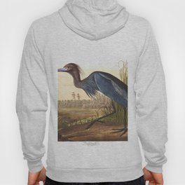 Blue crane or heron, Birds of America, Audubon Plate 307 Hoody