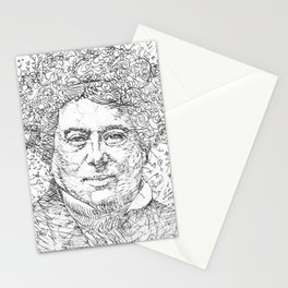 ALEXANDRE DUMAS pencil portrait .1 Stationery Cards
