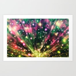 Brilliant Fireworks Art Print