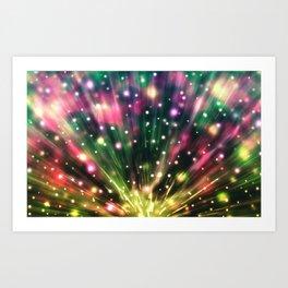 Brilliant Fireworks Art Print