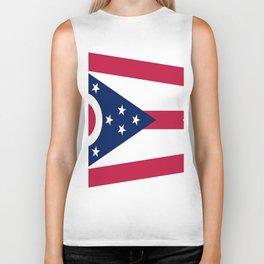 flag of Ohio,Midwest,Ohioan,Buckeye,Colombus,Cleveland,Cincinnati,Usa,america,united states,us Biker Tank