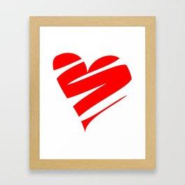Stylized Heart Framed Art Print