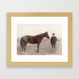 Circa 1900, Bismark, North Dakota Framed Art Print
