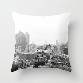 Lower East Side Skyline #3 Throw Pillow