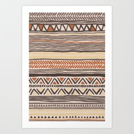 Hand Drawn Ethnic Pattern Art Print