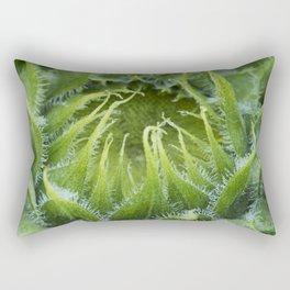 Teddy Bear Sunflower Bud Rectangular Pillow