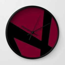 Lines with Red Wall Clock