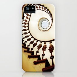 Spiral staircase in warm colours iPhone Case