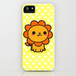 Kawaii lion iPhone Case