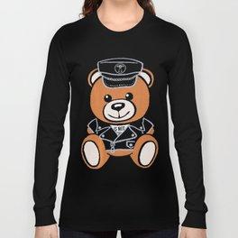 Leather Bear Moschino Long Sleeve T-shirt