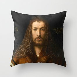 Self-Portrait at the Age of Twenty Eight by Albrecht Dürer Throw Pillow