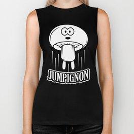 Jumpignon Fungus Mushroom Champignon Funny Design Biker Tank