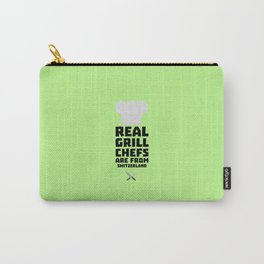 Real Grill Chefs are from Switzerland D0wny Carry-All Pouch