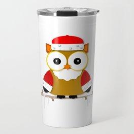 Santa Owl Travel Mug