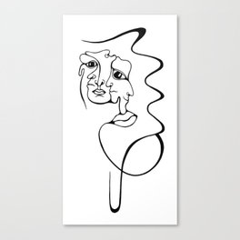 Abstract People Canvas Print