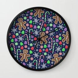 Jolly Gingerbread Wall Clock
