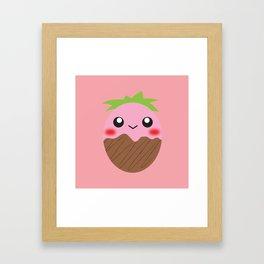 strawberry egg fondue Framed Art Print