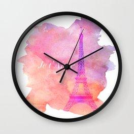 Je t' Aime Paris  Wall Clock