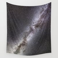 milky way Wall Tapestries featuring Milky Way by Space99