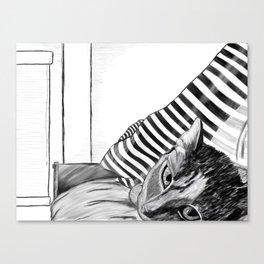 Caturday Morning Canvas Print