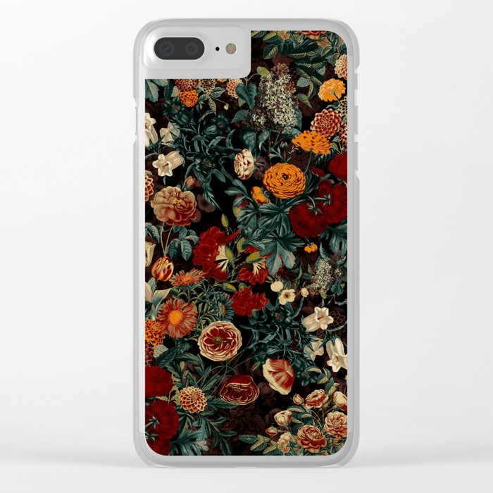 EXOTIC GARDEN - NIGHT XXI Clear iPhone Case
