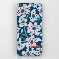 cherry blossom iPhone & iPod Skins featuring Cherry Blossom by Alannah Brid