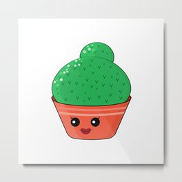Hilarious cacti. Baby and kids style Metal Print