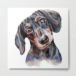 Dachshund sausage dog painting Metal Print