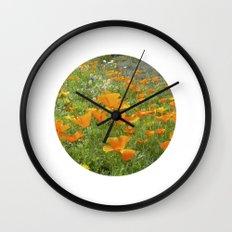 california poppy VIII Wall Clock