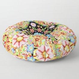 Boho Chic Flower Garden Floor Pillow