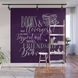 Books and Cleverness Wall Mural