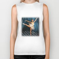 ballerina Biker Tanks featuring ballerina by Ancello