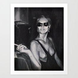 Kate Moss Painting  Art Print
