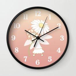 Daisy Fairy - numbered clock Wall Clock