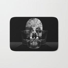 Room Skull B&W Bath Mat