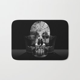 Room Skull B&W Bath Mat