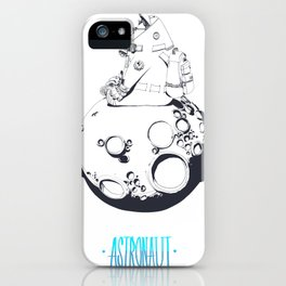 Astronaut on the moon. iPhone Case