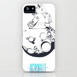 Astronaut on the moon. iPhone Case