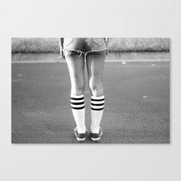 Shorts & Chucks Canvas Print
