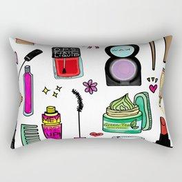 Cosmetic Doodles Rectangular Pillow