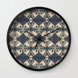 Circle Shibori Wall Clock